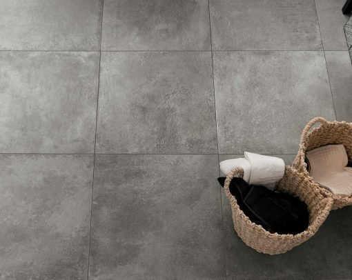 hmade pavimento effetto cemento grigio particolare