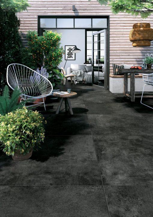 pavimenti per esterni effetto metallo