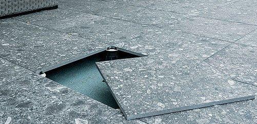 posa di pavimento esterno sopraelevato