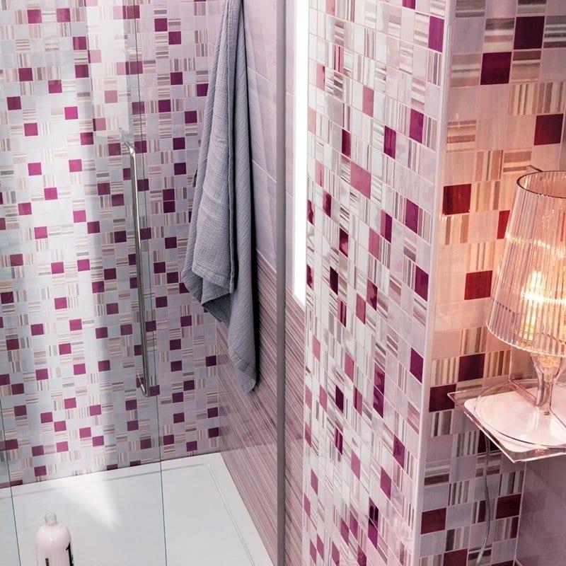 progettare il bagno ospiti con box doccia e colori vivaci