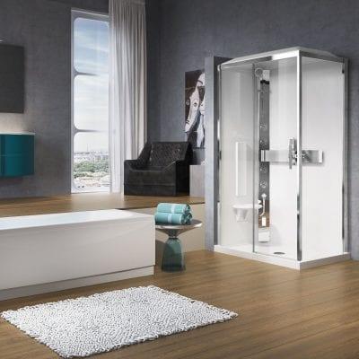 cabina doccia glax 120x80 linea