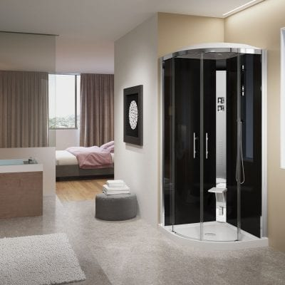 cabina doccia tonda crystal