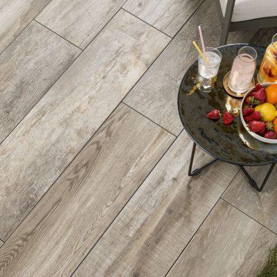 Pavimento per esterni effetto legno piallato Ember NN 02