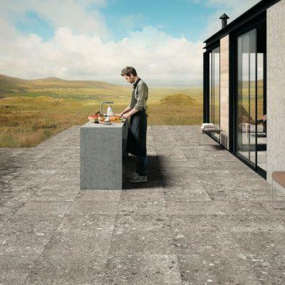 Pavimento per esterno effetto pietra nordica
