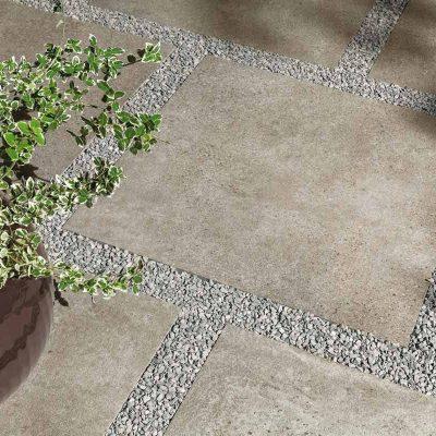 Pavimento per esterni effetto cemento