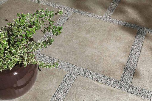 Pavimento per esterno effetto cemento Block MP 03