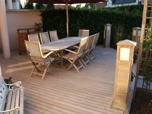 Pavimento per esterno decking Teak