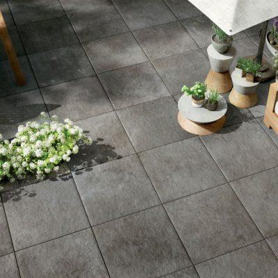 pavimenti per esterni effetto metallo Dark OF 03
