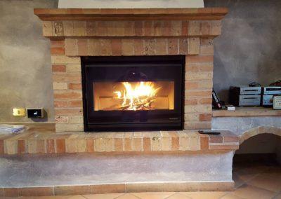 Installazione Ecopalex 76 Star a legna con rottamazione vecchio inserto