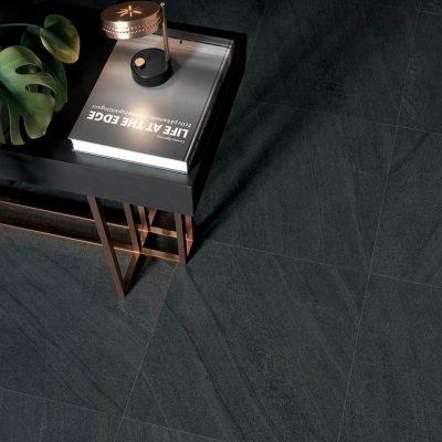 pavimento effetto pietra di cardoso nero LG05 particolare