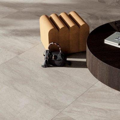 pavimento effetto quarzo grigio SK01 particolare