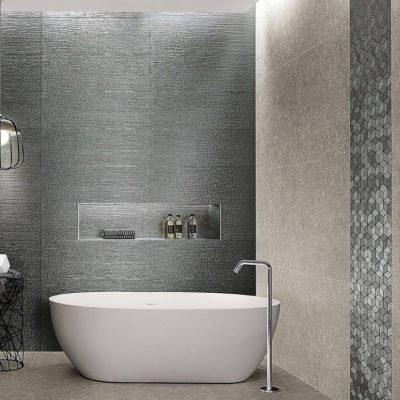 bagno rivestimento lumina glam net silver