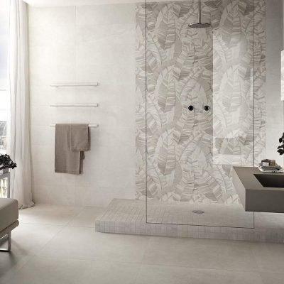 bagno rivestito con piastrelle collezione nux