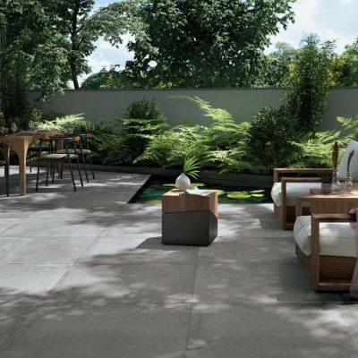 pavimenti esterni effetto cotto cemento HM03 posato
