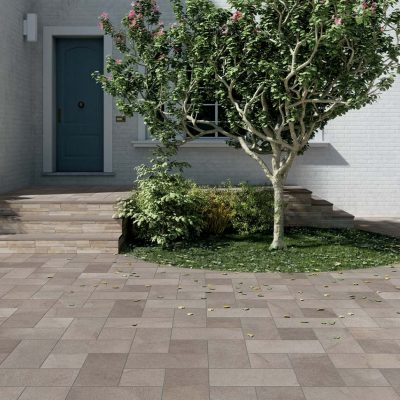 pavimenti per esterno effetto pietra elba posato