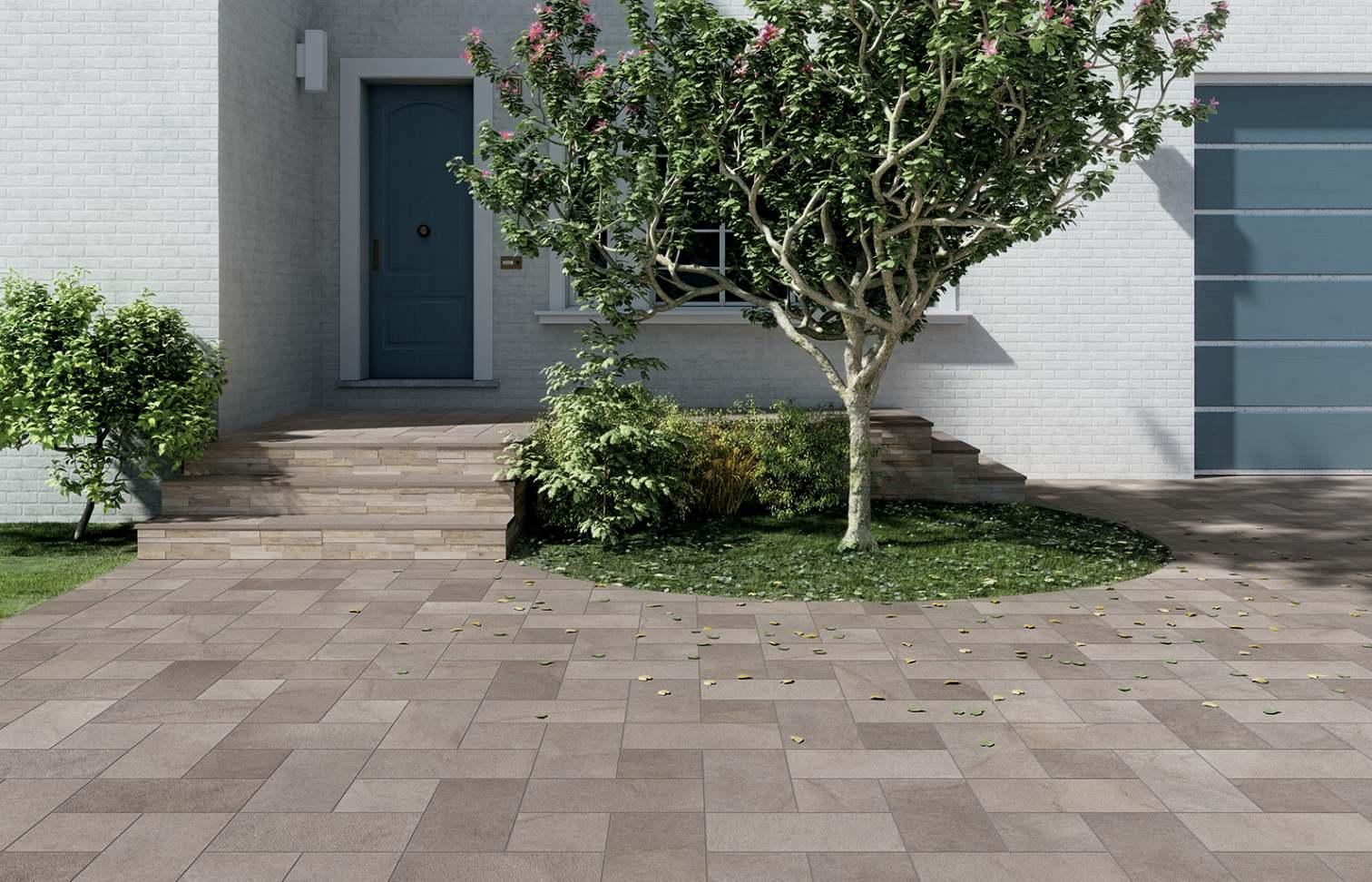 Pavimentazione Giardino In Pietra collezione esprit: pavimenti per esterno effetto pietra elba