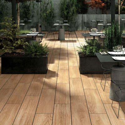 pavimento esterni legno anticato si04 in opera