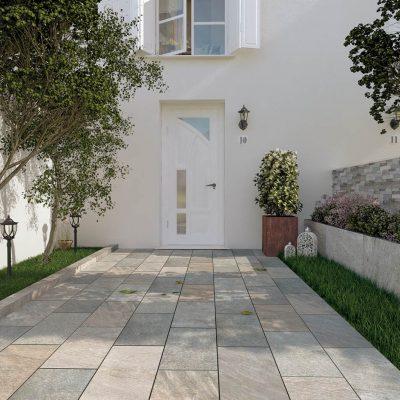 pavimento esterno effetto quarziti qr03 ingresso