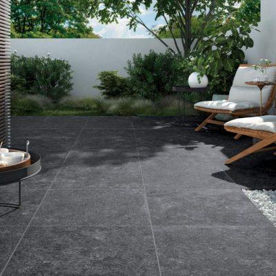 pavimento per esterni effetto pietra nero bl01 ambiente